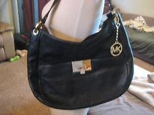 MICHAEL KORS Women's Channing MK LG Shoulder Bag Tote Black Leather 38F5XCHL3L