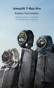 2021 Outdoor GPS Smartwatch Amazfit T-Rex Pro Trex 15 Military certification
