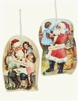 Victorian Trading Co 7 Santa Pillow Vintage Art Christmas Ornaments 40C