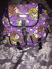 Anna Smith Purple Comic Backpack BNWT
