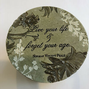 Live Your Life & Forget Your Age Resin Trinket Box By Garden Of Life