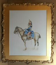 French Cuirassier. Watercolour & Ink by listed artist Paul Scheidecker c1905