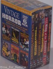 Vintage Horror 6 DVD Box Set Dead Men Walk Corpse Vanishes Mad Monster Zombies