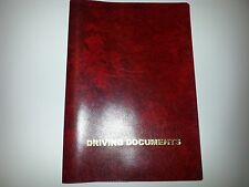 A5 RED LEATHER LOOK CAR DOCUMENT HOLDER HOLDER WITH CARD POCKET