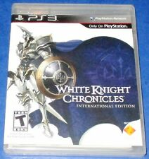 White Knight Chronicles PlayStation 3 New! Sealed! (Torn Cellophane) Free Ship!