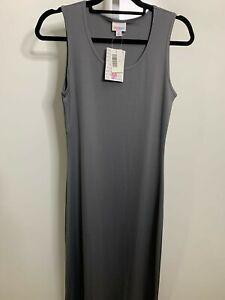 LuLaRoe NWT Medium Dani Solid Gray Long Tank Dress Retired Style!