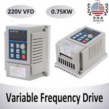 220V 1HP 0.75KW Single Phase To 3/Three Phase Output Frequency Converter VFD VSD