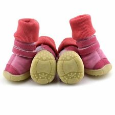 Warm Dog Walking Boots Set of 4  Weather Ice Resistant Booties USA Size XS