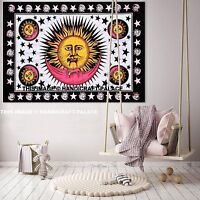 Sun Moon And Stars Mandala Tapestry Hippie Wall Hanging Bohemian Indian Throw