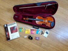 "24"" Beginner Violin with Case, Bow, Book, Extra Strings"