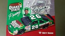 Brett bodine Signed Autographed Quaker State Racing 1994 Nascar 8x10 Promo