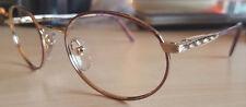 VINTAGE WOMEN'S NOS Designer Eyeglass Frames 50 [] 20 130 mm Gold/Purple