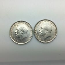 Great Britain 1914 & 1916 George V Half Crowns  pair of Collector Coins Lustre