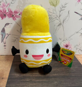 """Crayola Soft Plush Yellow Crayon Cuddly Toy Approx 10"""" Unused With Tags"""