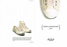 Publicite ADVERTISING 124 2010 jack purcell converse trainers plimsolls (2p)