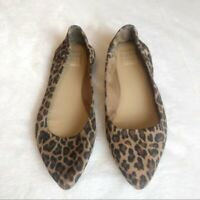 Kaari Blue Jessica Flats Shoes Animal Print 8-1/2