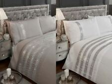 Carly Crystal Diamante Bling Embroidered Luxury Boutique Bedding Duvet Set