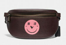 Coach Leather Belt Bag Fanny Pack Rexy By Yeti Out Smiley Face ~NWT~ 73938