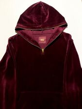 2015 KITH VELOUR MAROON MENS QUARTER ZIP PULLOVER SWEATSHIRT SIZE: MEDIUM