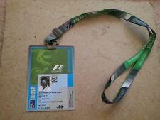 2012 AUSTRALIAN GRAND PRIX - MEDIA F1 PASS with Lanyard (FORMULA 1)