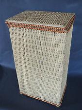 Ancienne huche panière pain orange cuisine années 1970 french antique bread box