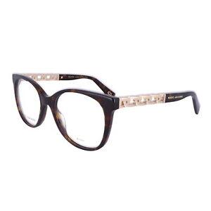 MARC JACOBS Eyeglasses 335 0QUM DARK HAVANA GOLD Women 52x19x140