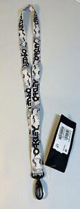 New Oakley Lanyard B1B Grey Crazy Camo Neck Strap ID Holder Key Chain Ring Badge