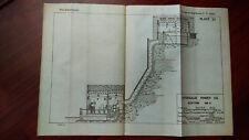 1919 Sketch Map Niagara New York Hydraulic Power Co Station No. 3