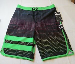 Hurley Phantom Boys Board Shorts Swim Short 20 20/30 982418-062 Multi stripes