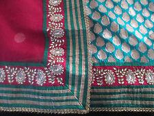 Designer bollywood net and brocade saree