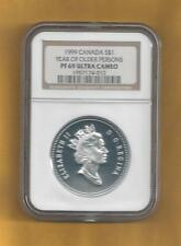 1999 CANADA DOLLAR PF 69 ULTRA CAMEO (YEAR OF OLDER PERSONS)