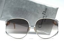 21c28b9cdfc VINTAGE CHRISTIAN DIOR 2250 WHITE   SILVER OVERSIZED SUNGLASSES 1970 GERMANY