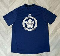 Adidas Toronto Maple Leafs Climalite T-shirt - Mens Large Blue Pro-Stock