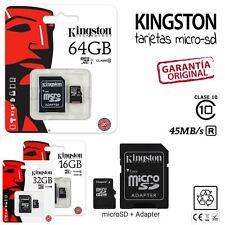 Tarjeta MicroSD Kingston 16/32/64GB Clase 10 - Memoria Micro SD GB Class 10
