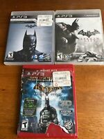 Batman Arkham City, Origins & Asylum GOTY Playstation 3 PS3 3 Game Bundle Lot