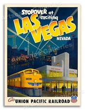Exciting Las Vegas, Nevada! - 1950s Vintage Style Travel Poster - 18x24