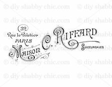 A6 PARIS FURNITURE DECAL SHABBY CHIC IMAGE TRANSFER VINTAGE LABEL TYPOGRAPHY
