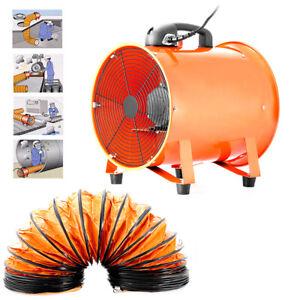 "12"" Extractor Fan Blower Portable w/ 5m Duct Hose Utility High Rotation Exhaust"