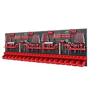 Werkzeugwand 2304 x 780 mm -  Lagersystem SET Werkzeughaltern und 42 Stück Boxen
