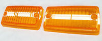 FORD ESCORT MK1 LOTUS GT XL FRONT INDICATOR LENSES ORANGE - Sold as a pair