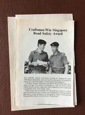 H1f Ephemera 1970s British Army Picture Paul Tucker Ken Gifford Rally Singapore