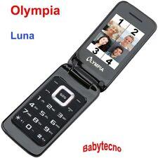 CELLULARE Olympia LUNA Nero Senior Anziani Tasti GRANDI SOS VGA DUAL SIM MicroSD