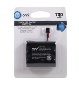 Onn Cordless Phone Battery 3.6V 700mAh  ATT GE SONY Uniden Toshiba Panasonic New