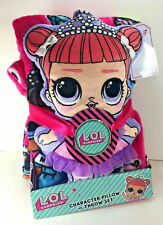 "NEW LOL Surprise 40"" x 50"" Silky Soft THROW BLANKET PILLOW Plush Doll L.O.L. Set"