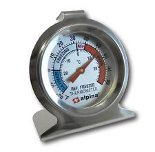 Edelstahl Kühlschrank Thermometer Kühlfach Kühltruhe Gefriertruhe Temperatur NEU