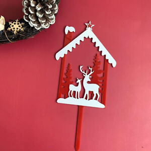 Merry Christmas Acrylic Cake Topper Cupcake Topper For Xmas Cake Decorations^lk