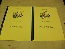 Raleigh Moped/ Wisp / NEW Workshop manual + Parts Book/With Exploded Diagrams
