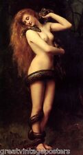 LILITH WOMAN SNAKE MYTHOLOGY FEMALE DEMONS BY JOHN COLLIER ON PAPER REPRO SMALL