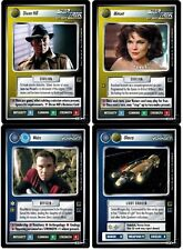 STAR TREK CCG 1E : HOLODECK ADVENTURES COMPLETE SET W/ UR DIXON HILL