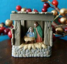 "Hallmark Miniature Ornament 1995 ""Starlit Nativity"" Lighted"
